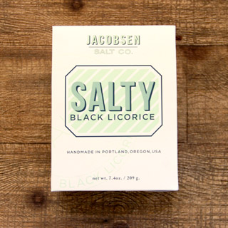 a box of jacobson salt company brand salty black licorice