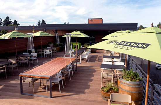 a new seasons roof top cafe