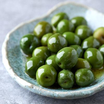plate full of olives