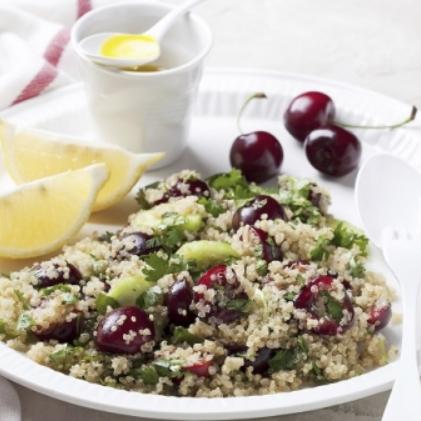 Walnut-Quinoa-Salad-Cherries
