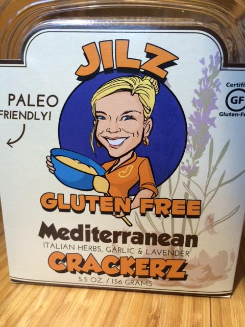 a box of jilz brand gluten free mediterranean crackers