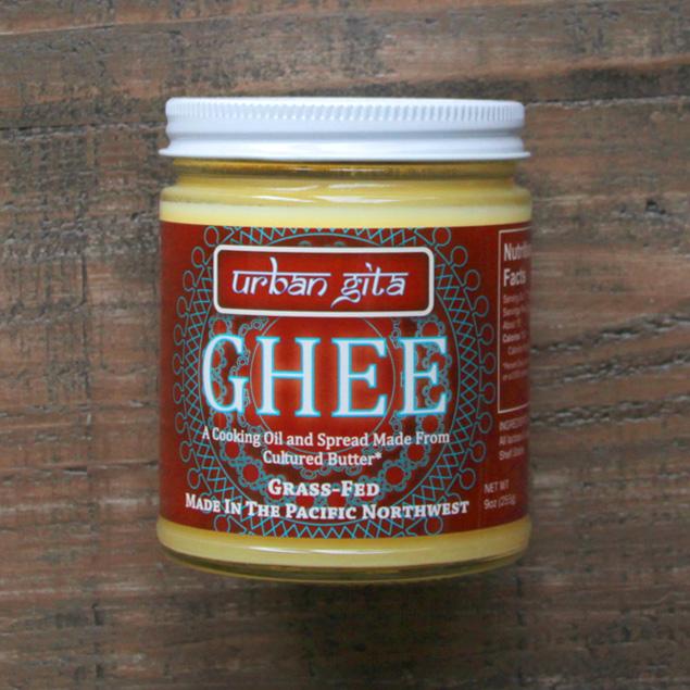 a jar of urban gita brand ghee