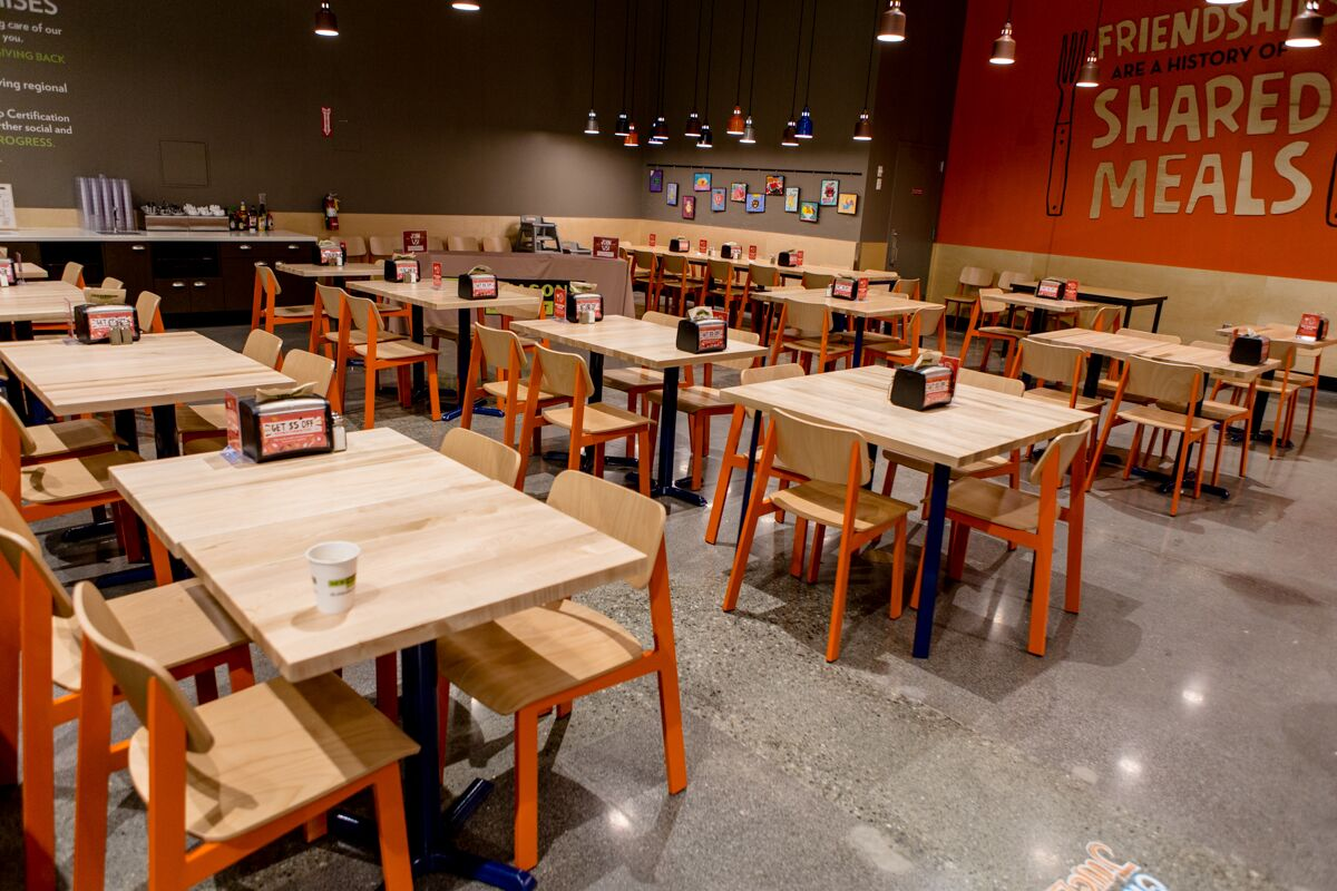 a new seasons food court seating area
