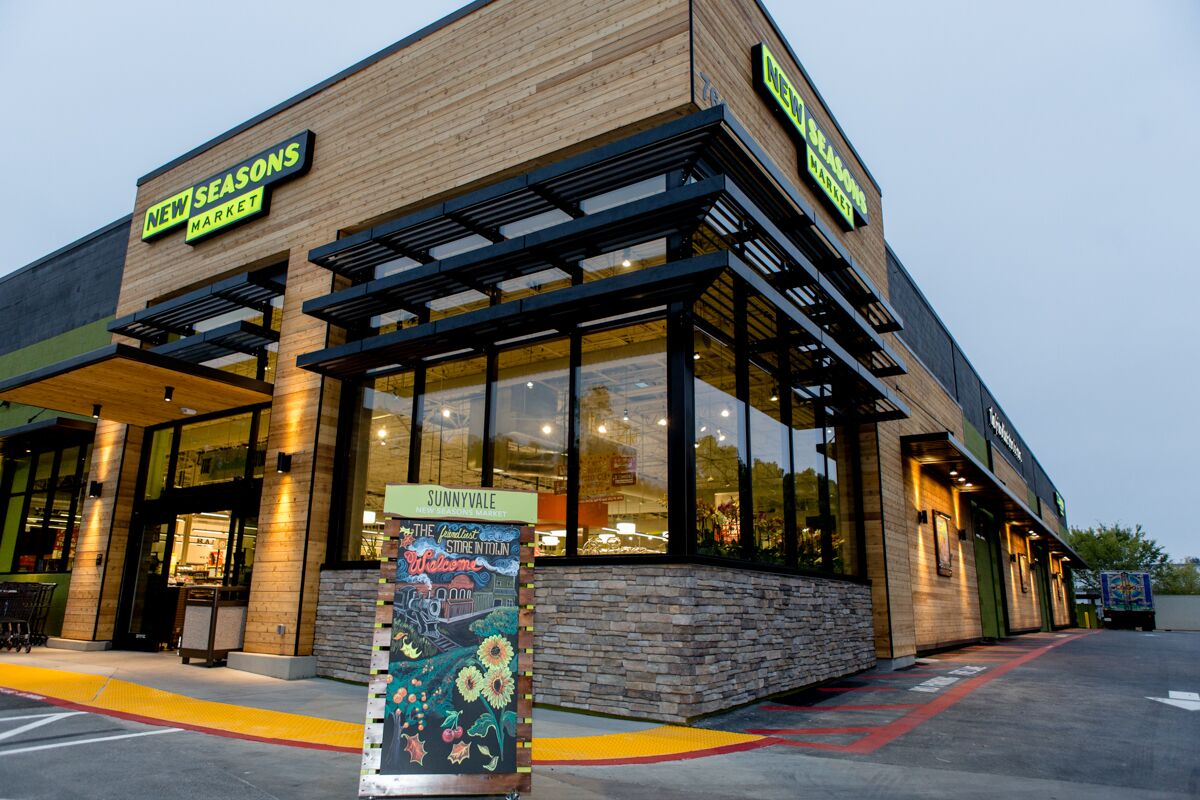 a welcoming new seasons entrance