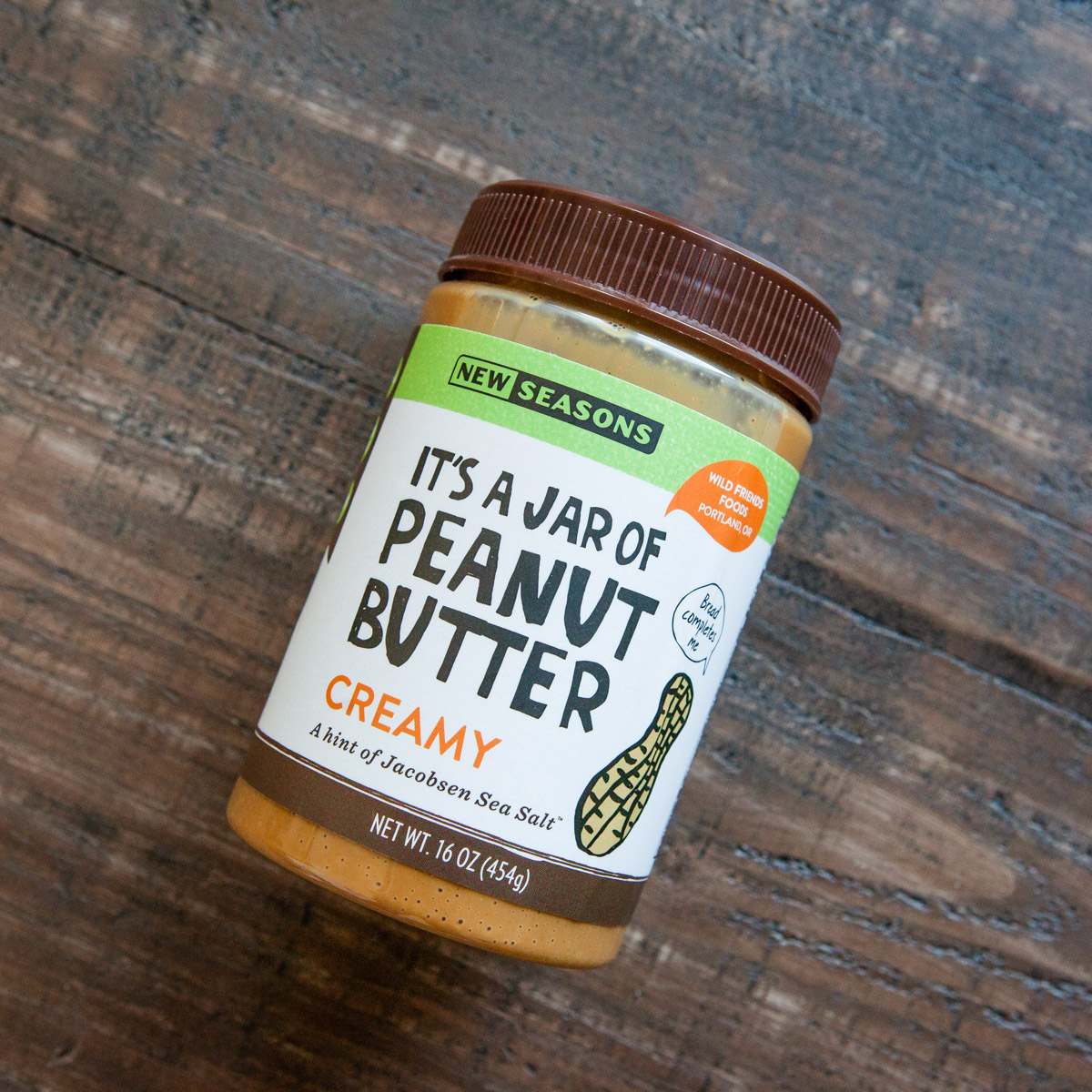 Jar of New Seasons peanut butter
