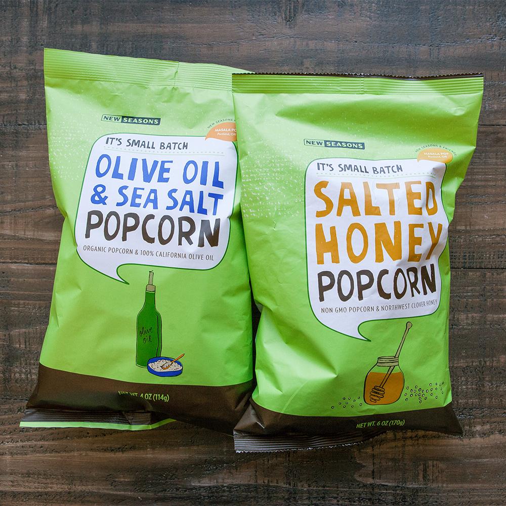 New Seasons partner brand popcorn