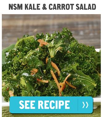 NSM Kale & Carrot Salad. See Recipe>>
