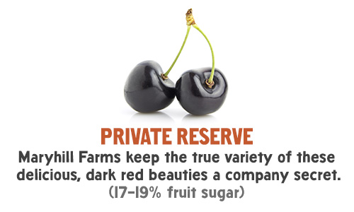 Private Reserve - Maryhill Farms keep the true variety of these delicious, dark red beauties a company secret. (17-19% fruit sugar)