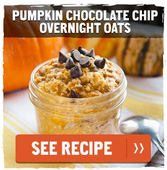 Pumpkin Chocolate Chip Overnight Oats